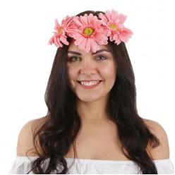 """Венок на голову цветочный """"Герберы"""" (текстиль)"""