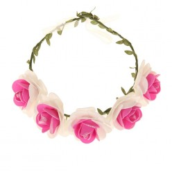 """Венок на голову цветочный """"Розы"""" (фоамиран)"""