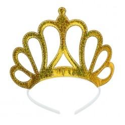 Корона на ободке золотая, мягкая 9,5*16см