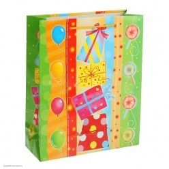 "Пакет ML 26*32*10см ""Подарки"" ламинат"