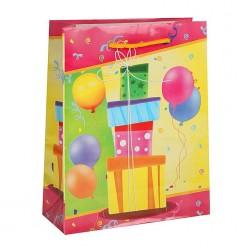 """Пакет ML 26*32*10см """"Подарки, шары"""" ламинат"""