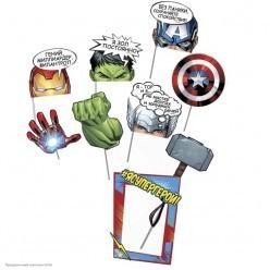 """Набор фотобутофории Марвел """"Супергерои"""" (9 предметов)"""