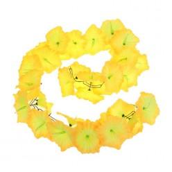 """Гирлянда гавайская """"Лилия"""" жёлтая 13*210см"""