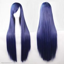 Парик Прямой длинный 80см с чёлкой, тёмно-фиолетовый