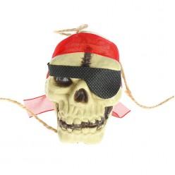 Гирлянда Черепа пирата 170см (пластик)