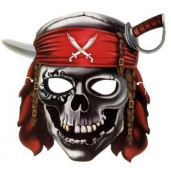 Маска Череп пирата (картон) 27,6*25,6 см