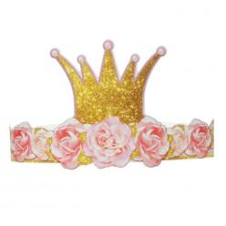 """Ободок бумажный """"Маленькая принцесса"""" 63,7*12см"""