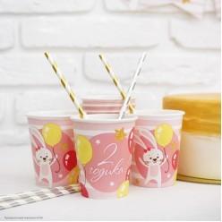 """Набор посуды """"2 годика"""" розовый (19 предметов)"""