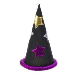 Колпак Звездочёта с фиолетовыми звёздами 41*24см