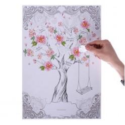 """Дерево пожеланий с наклейками """"Качель"""" 33*47,5см"""