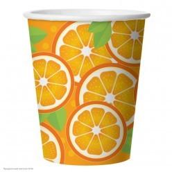 """Стаканы """"Апельсин"""" 250мл 6шт, бумага"""