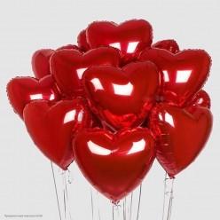 Шар фольга Сердце, Красный 19''/48см