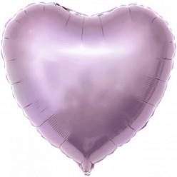 Шар фольга Сердце, Сиреневый 19''/48см