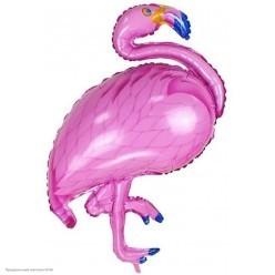 Шар фольга Фламинго, розовый 89*59см