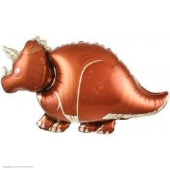 Шар фольга Динозавр Трицератопс 91*53см