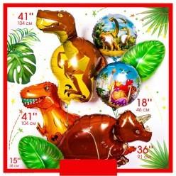 Шар фольга Динозавр Ти-Рекс 108*60см