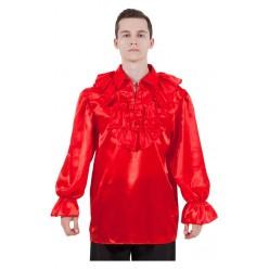 Пиратская рубаха (взрослая) красная р.46-48