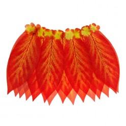 """Юбка гавайская """"Листья"""" красная 36 см"""