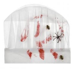 Поварской колпак в крови с насекомыми (нетканный)