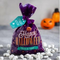 "Маршмеллоу ""Happy Halloween"" пакет фиолетовый 50 г"