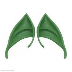 Уши Эльфа 10*4см зелёные (резина) в пакете