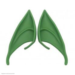 Уши Эльфа 12*4см зелёные (резина) в пакете