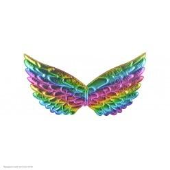 Крылышки Ангела, Единорога 42*20см (металлик) радужные
