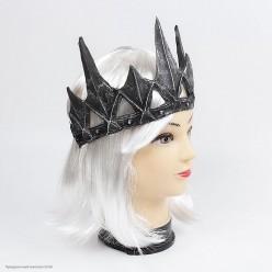 Корона Чёрная средневековая на резинке (резина)