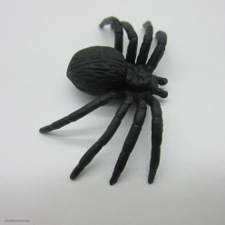 Паук чёрный 5*3см. Набор 12 штук (пластик)