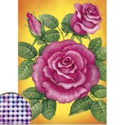 """Алмазная мозаика """"Розы"""" 15*21см"""