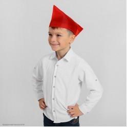 Пилотка пионерская красная (полиэстер)