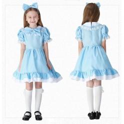 """Костюм детский """"Кукла Алиса"""" голубой, 130-140 см"""