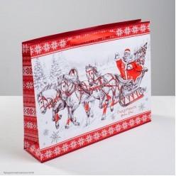 """Пакет подарочный L 40*31*9см """"Сказочного Нового Года!"""""""
