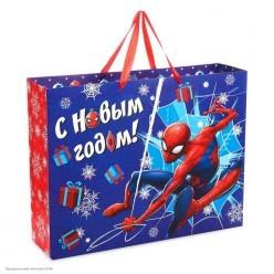 Пакет подарочный L 40*31*9см Человек-Паук
