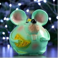 Фигурка СГ Мышь с сыром (гипс) 16*14*14 см