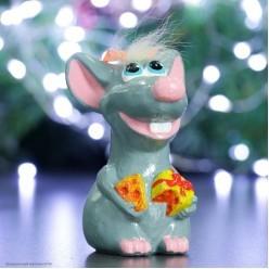 Фигурка СГ Довольная Крыса, цветная (гипс) 12,5*7,5*7,5 см