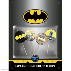 """Свечи-круги для торта """"Бэтмен"""" 4см, 4 шт"""