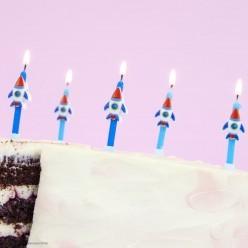 """Свечи для торта """"Ракеты"""" 6см, 6 шт"""