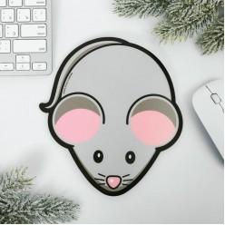 """Коврик для мыши фигурный """"Мышь"""" пластик"""