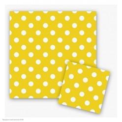 """Салфетки """"Горошек на жёлтом"""" 33*33 см, 12 шт"""