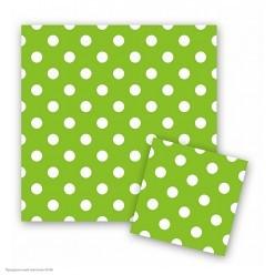 """Салфетки """"Горошек на зелёном"""" 33*33 см, 12 шт"""