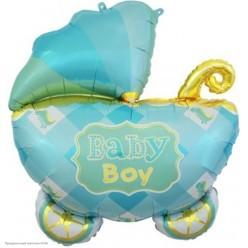"""Набор фольгированных шаров """"Рождение мальчика"""" Коляска, 5 шт"""