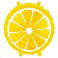 "Шар фольга Круг ""Лимон"" 18""/45см"