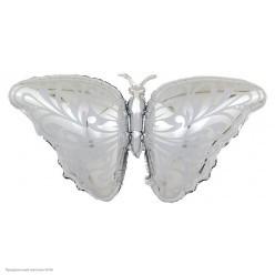 Шар фольга Бабочка, серебро 118*53 см
