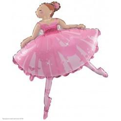 Шар фольга Балерина 115*83 см