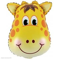 Шар фольга Голова, Жираф 56*44 см