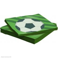 Салфетки Футбольный мяч 33*33см, 20шт