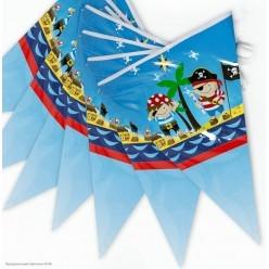 "Гирлянда-флажки ""Пираты"" 21*30см 3м (бумага)"