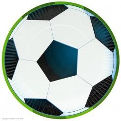 """Тарелки """"Футбольный мяч"""" 23см 6шт, бумага"""