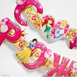 """Гирлянда-буквы """"С Днём Рождения!"""" Принцессы, 14*235см"""
